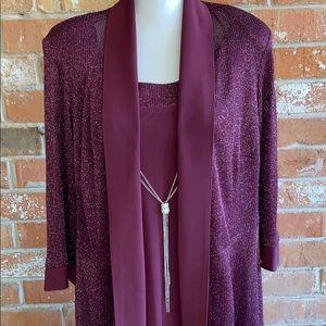 R&M Richards Dresses - ▪️R&M RICHARDS▪️Formal Burgundy Dress 20W EUC